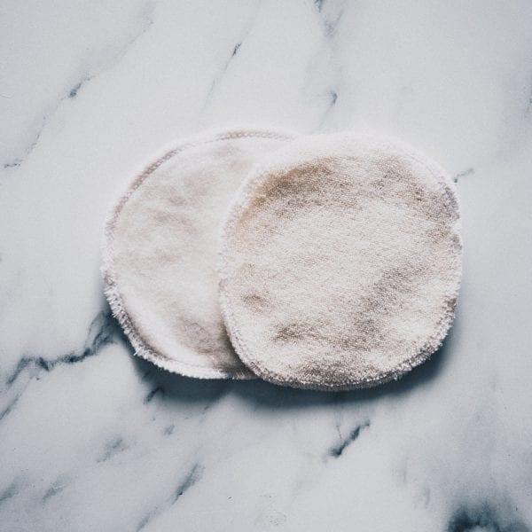 Lingettes démaquillantes lavables bi face