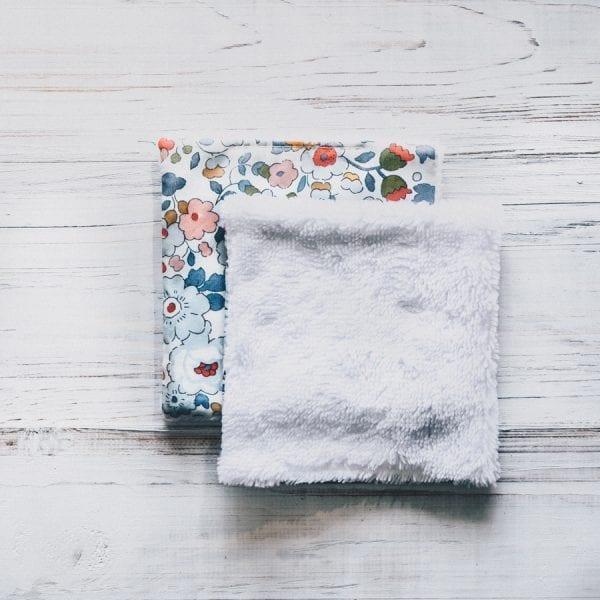 Lingette démaquillante lavable en éponge de bambou