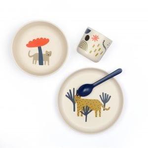 Set repas enfant bambou